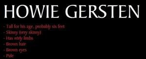 Howie Gersten | His Appearance