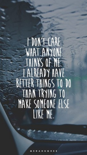 Quotes wallpaper with a sign called I Don't Care
