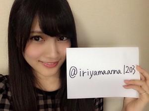 Iriyama Anna on Twitter