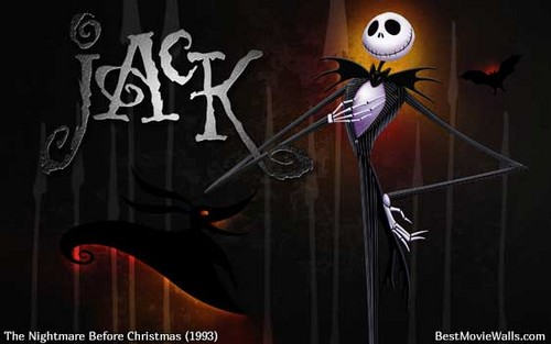 Nightmare Before Christmas wallpaper probably containing a sign called Jack Skellington