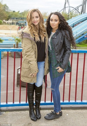 Jade and Leigh at the Thorpe Park