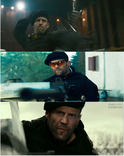 Jason Statham wallpaper possibly containing a green baret entitled Jason in Expendables Trilogy