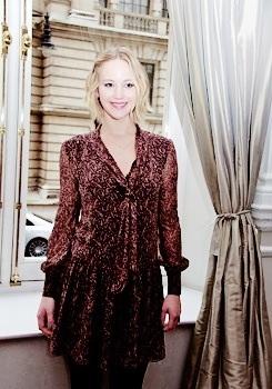"Jennifer Lawrence at ""The Hunger Games: Mockingjay: Part 1"" Press Conference"