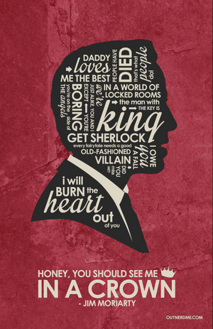 Jim Moriarty Quote Poster