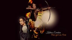 Katniss karatasi la kupamba ukuta