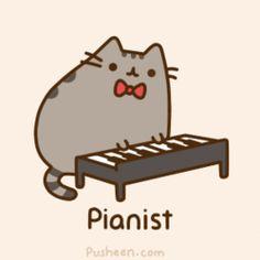 Kawaii Cat: Pianist
