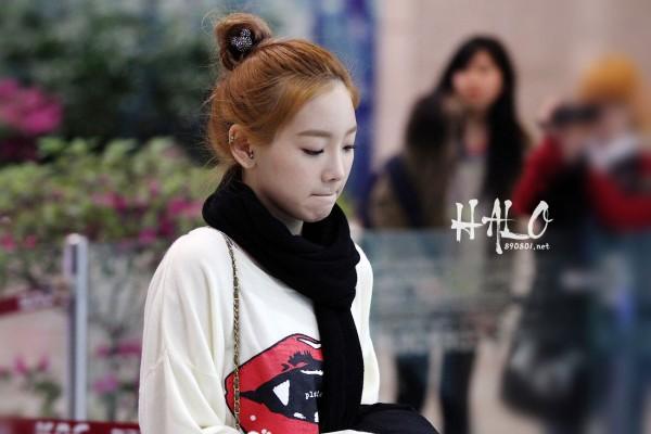 Kim Taeyeon airport fashion