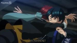 Kintarou hugging Ryoma