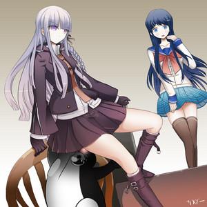 Kirigiri and Sayaka