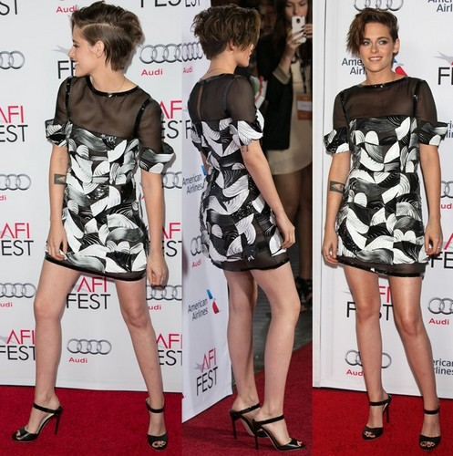 Kristen Stewart wallpaper probably with a playsuit titled Kristen at Still Alice premiere