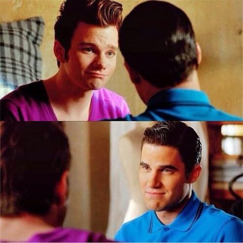 Kurt and Blaine wallpaper containing a portrait entitled Kurt and Blaine Season 5