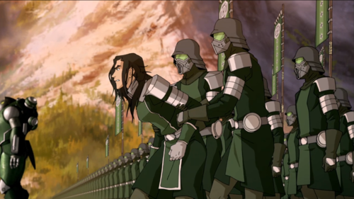 Avatar: The Legend of Korra wallpaper possibly with a green beret, an alpinist, and a navy seal titled Kuvira