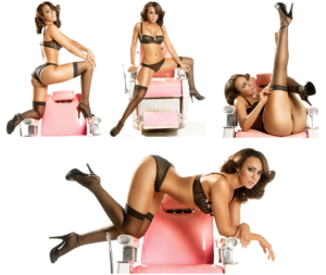 Layla in her bra and panties
