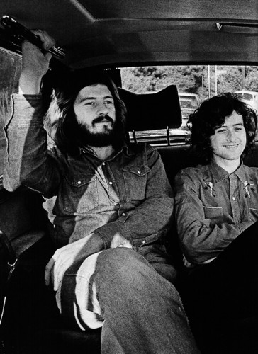 Led Zeppelin wallpaper possibly with a street, a green beret, and a drawing room titled Led Zeppelin
