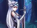 Lenessia holding a sword