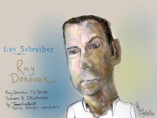 射线, 雷 Donovan (TV Show) 壁纸 with a portrait entitled Liev Schreiber as 射线, 雷 Donovan
