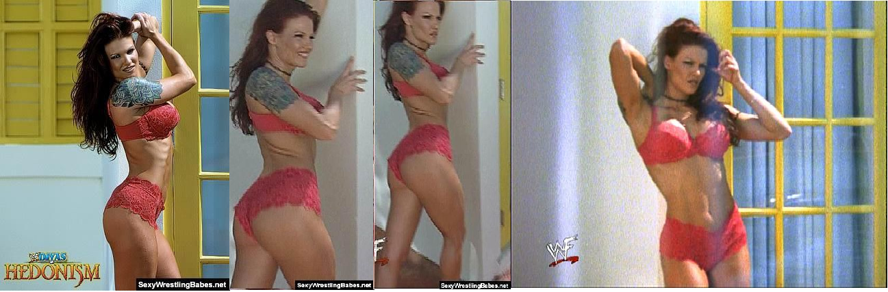 Lita in her bra and panties