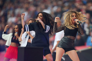 Little Mix performing in Wembley Stadium for the NFL game -26.10.14