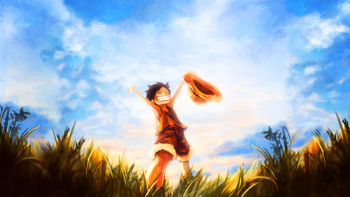 Monkey D. Luffy karatasi la kupamba ukuta called Luffy One Piece