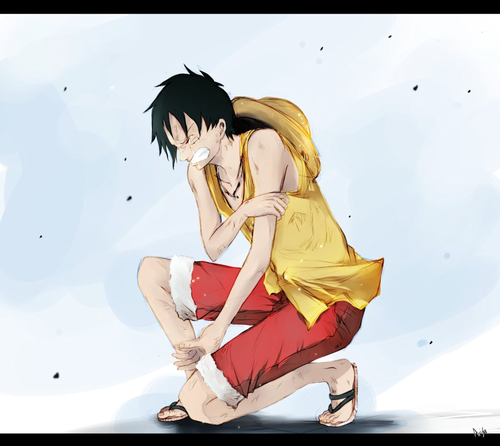 Monkey D. Luffy karatasi la kupamba ukuta entitled Luffy One Piece