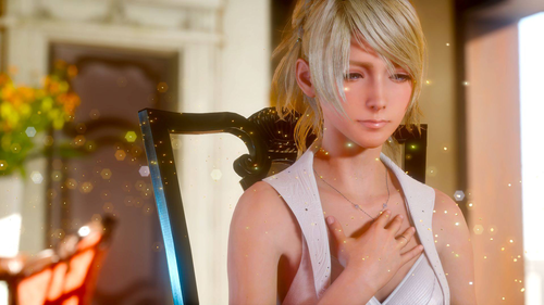 Final ファンタジー XV 壁紙 probably with a portrait called Luna's first official 写真