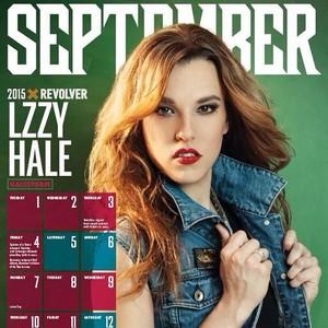 Lzzy Hale in REVOLVER Magazine's 2015 Calendar