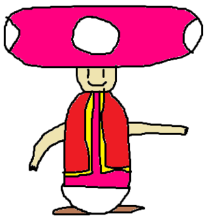 MSPaint drawing of Toadette