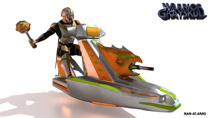 Man-At-Arms and the Sky Sled