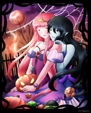 Marceline and Bubblegum