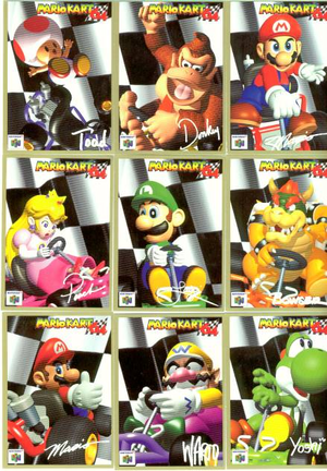 Mario Kart 64 Cards