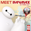 Meet Baymax today at the Utah vs. USC Football game October 25th
