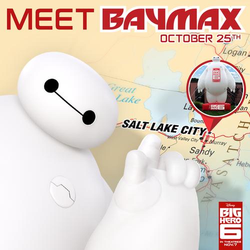 Big Hero 6 Hintergrund entitled Meet Baymax today at the Utah vs. USC Football game October 25th
