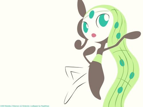 maalamat pokemon wolpeyper entitled Meloetta Aria