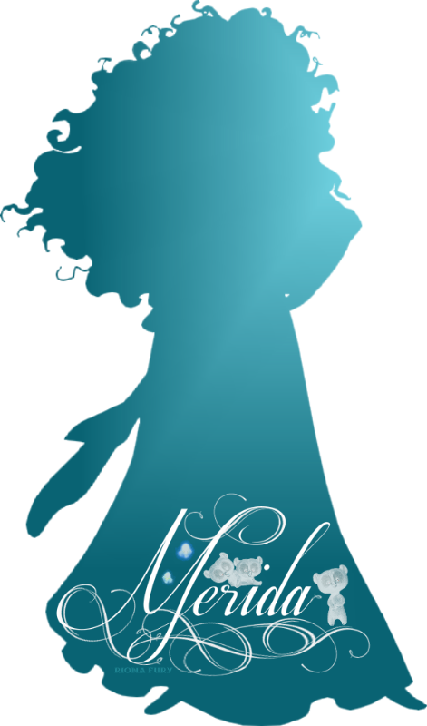 Disney Princess Silhouette Princess Merida Silhouette