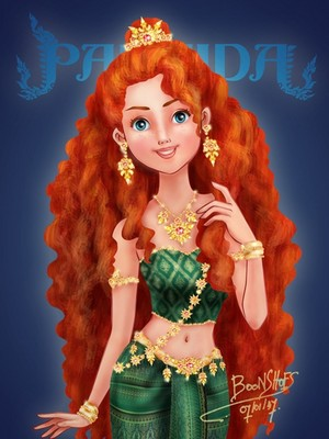 Merida in Thai Costume