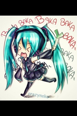 Miku with leek!!!!