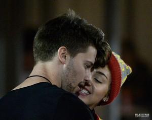 Miley and Patrick at the USC Game - November 14
