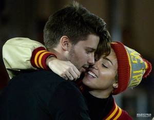 Miley and Patrick at the USC Game - November 14