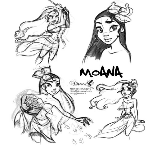 Disney's Moana Hintergrund with Anime called Moana