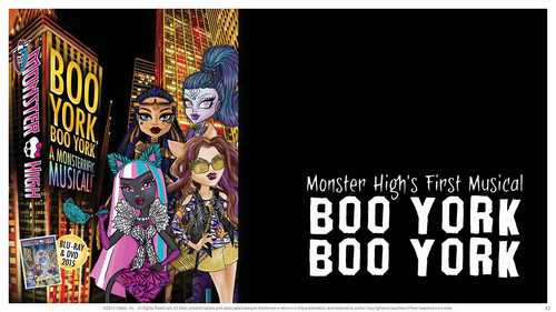 モンスター・ハイ 壁紙 containing アニメ called Monster High Boo York, Boo York First Musical Movie Fall 2015