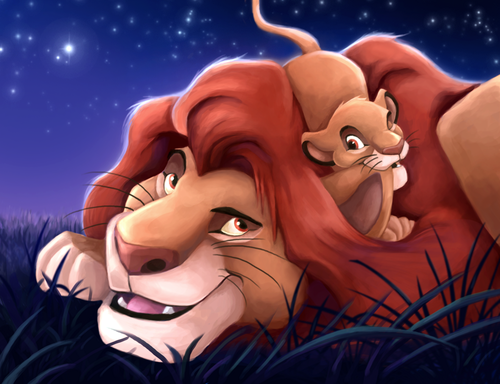 o rei leão wallpaper titled Mufasa and Simba