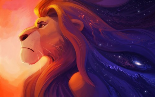 The Lion King kertas dinding titled Mufasa fanart