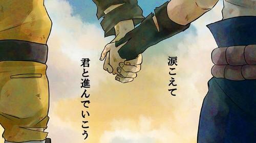火影忍者 疾风传 壁纸 probably containing a 步枪兵, 步枪手 entitled NaruSasu 壁纸