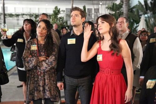 "New Girl Hintergrund probably with a bridesmaid called New Girl 4.08 ""Teachers"" Promotional Fotos"
