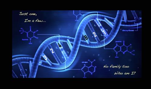 Orphan Black achtergrond titled OB DNA achtergrond