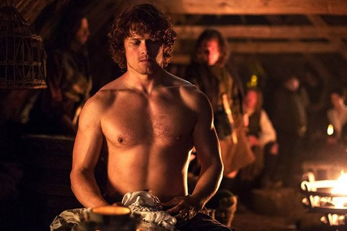 Outlander 2014 TV Series پیپر وال possibly with a hunk کے, hunk entitled Outlander season 1 promotional picture