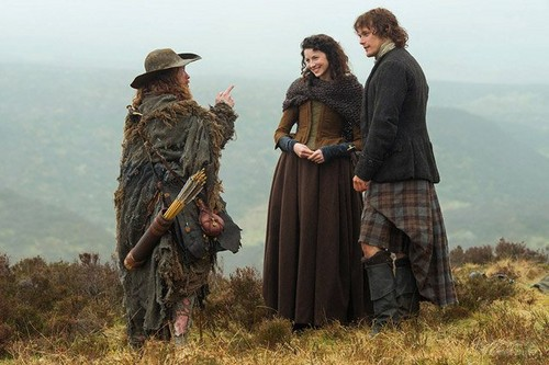 serial tv outlander 2014 wallpaper called Outlander season 1 promotional picture