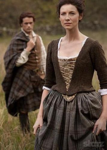 outlander serie de televisión 2014 fondo de pantalla containing a polonesa called Outlander season 1 promotional picture