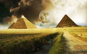 PYRAMIDS SUNLIGHT