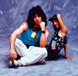 Paul Stanley and Martha Quinn...Live Aid 1985